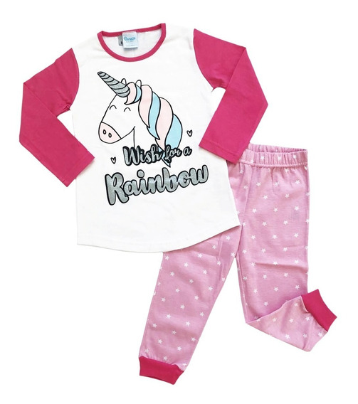 Pijama Manga Larga Niñas Diseño Unicornio Boneco Mundomanias