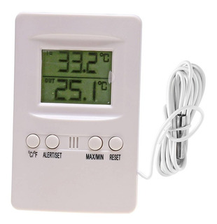 Termômetro Digital Maxima Minima Interno Externo Supermedy