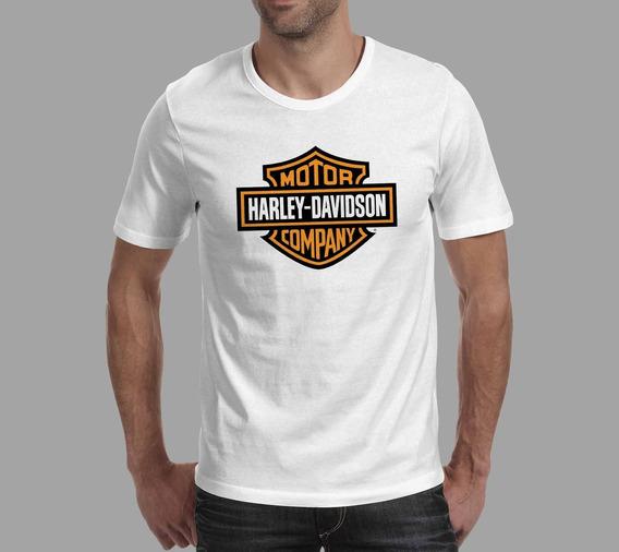 Camiseta Harley Davidson - Branca