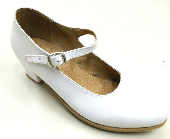 Zapato Danza Folkrorica Bco 27,27.5y28