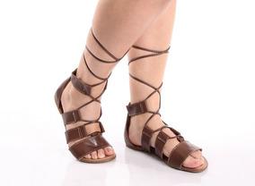 68be5c5458 Sandálias e Chinelos Gladiadoras para Feminino no Mercado Livre Brasil