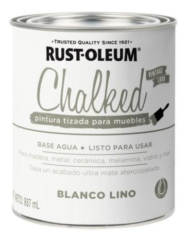 Pintura Tizado Chalked Rust Oleum 887ml Blanco Lino   Ed