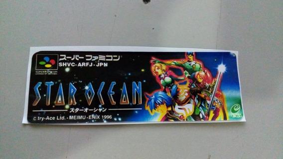 Label Star Ocean Snes Super Nintendo Japonesa