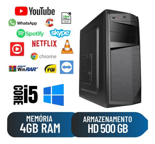 Imagem 1 de 2 de Cpu Desktop Home Office I5 1ª Geração 4gb 500gb Win10