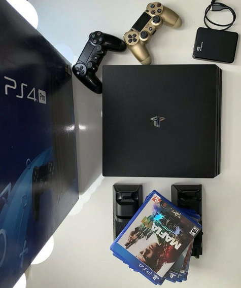 Sony Playstation 4 Pro 1tb Game Console - Black - 3 Games -