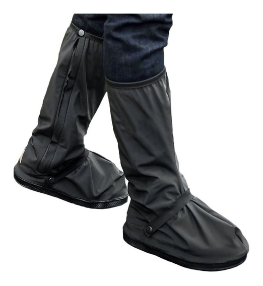 Bota De Lluvia Flexible De Zapato Con Cierre Motoquero