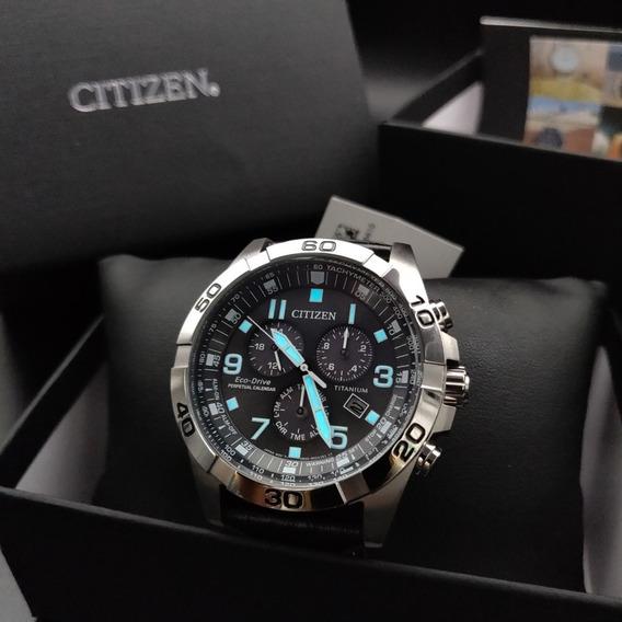 Relógio Citizen Titanium Bl5551-14h Calendário Perpetuo Bl5551 - 43mm - 100m - Japan