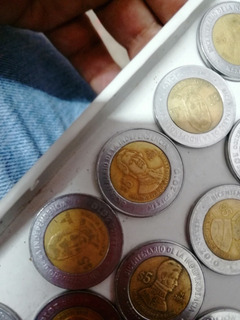 Monedas De 5 Pesos Lote Bicentenario Centenario La Revolució