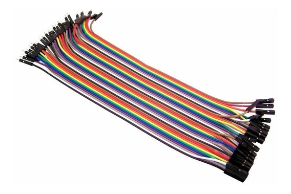 Kit Cabos Jumper 40 Peças Macho X Femea Eletrônicos Arduino