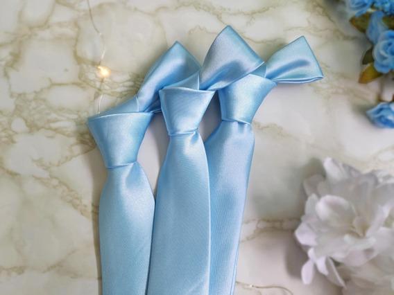 10 Gravatas Azul Serenity Cetim Para Padrinhos De Casamento