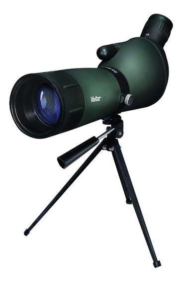 Luneta Lente 60mm Ampliação 60x Com Tripé Vivitar