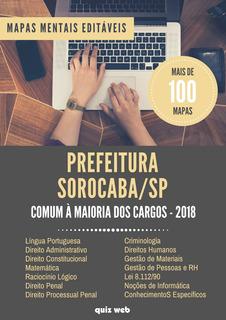 100 Mapas Mentais Concurso Prefeitura Sorocaba - Sp