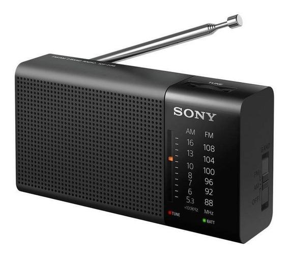 Rádio Sony Preto Am/fm Icf-p36 Portátil