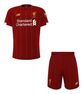 Conjunto Infantil Liverpool 19/20 Oficial Inglês - Promoção