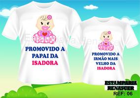Camisetas Personalizadas Gestante Grávida Cha De Bebe