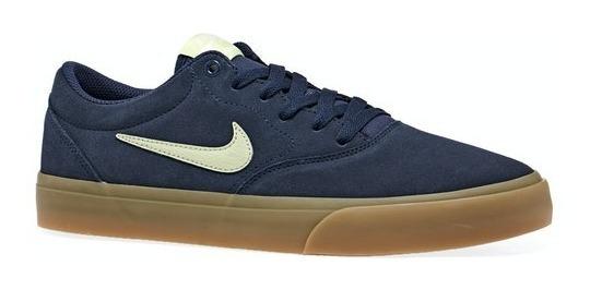 Zapatilla Nike Sb Charge Suede Azul Original Envio Gratis