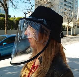 Sombrero + Mascara Protectora Facial Cubreboca Anticontagio