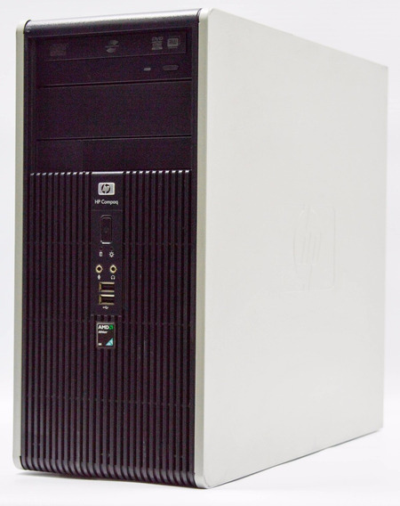 Cpu Hp Compaq Amd 2gb Hd 80gb Garantia + Perifer