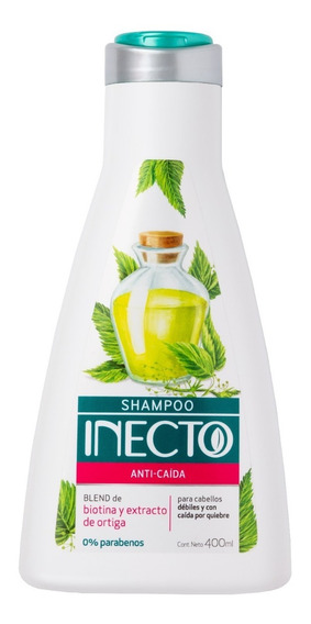 Shampoo Inecto Anti Caida X 400ml Para Cabellos Débiles