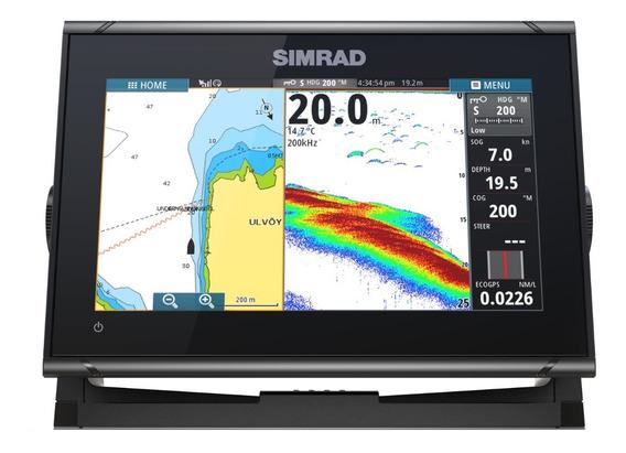 Gps Sonda Radar Simrad Go9 Xse Nmea 2000 + Down Scan Hdi