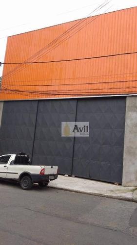 Galpão Para Alugar, 1000 M² Por R$ 15.000/mês - Itaquera - São Paulo/sp - Ga0123