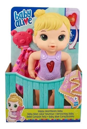 Imagen 1 de 2 de Baby Alive Hasbro E6946 Bebe Corazon Feliz Luz Sonido Full