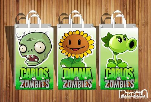 Bolsitas Para Sorpresitas Plants Vs Zombies  X10 Unid.