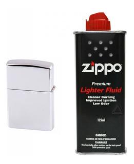 Navidad Encendedor Cromado + Liquido Fluido Zippo Original