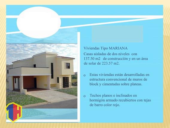 Residencial De Casas De Dos Niveles En La Jacobo Majluta