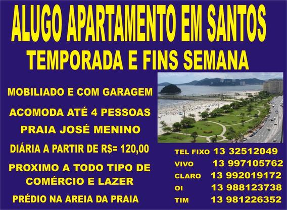 Santos, Temporada Ou Fins De Semana Apto. Na Areia Da Praia