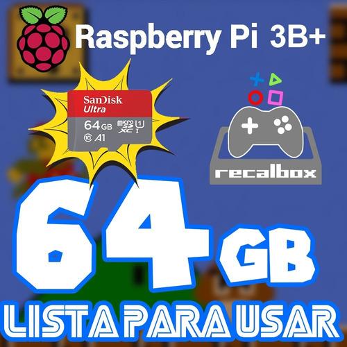 Micro Sd Recalbox 64g P/ Raspberry Pi 3b/b+ Lleno De Juegos!