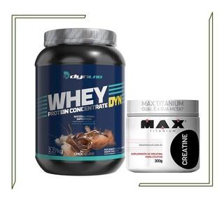 Whey Dyn Concentrado100% Pure 2,270kg+crea300g+frete Grátis