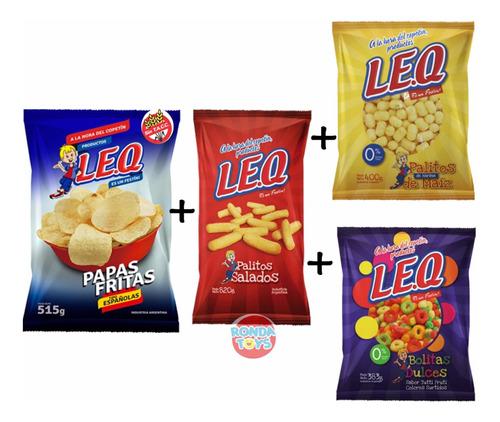 Combo Snacks Leq Papasfritas+palito+chizito Dulce Y Salado