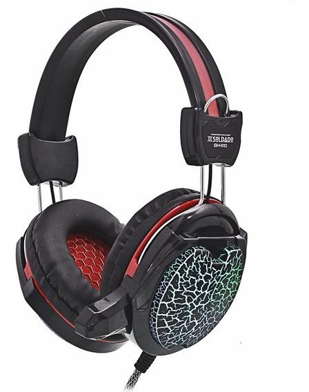 Headset Gamer Led Fone Microfone P/ Jogos Pc Note H3 Barato