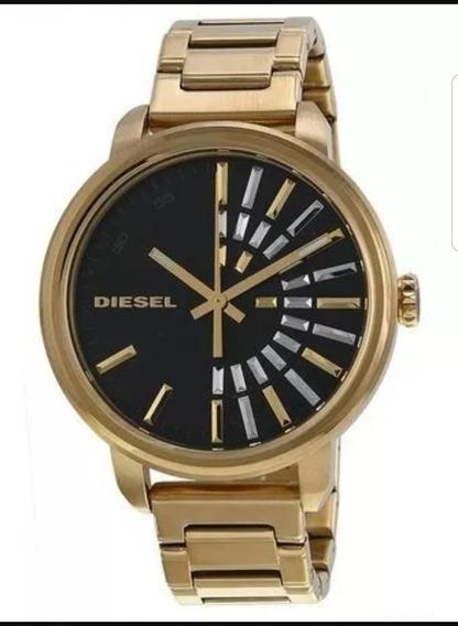 Relógio Diesel Feminino Dourado Pulseira De Aço Dz5417/4pn