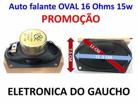 Kit Par De Alto Falante Oval Novo 12,5x7,5 16 Ohms 15w
