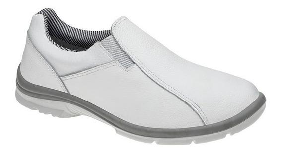 Sapato Branco De Couro Trabalho Hospital 50f61 Srv Garantia