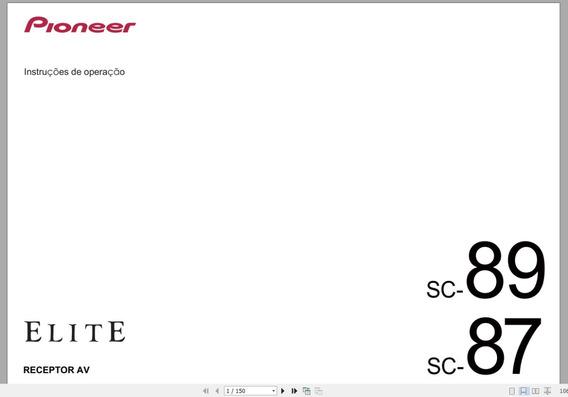 Manual Em Português Pioneer Elite Sc-87 E Sc-89