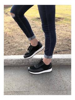 Sneakers Mujer Negros Bodega