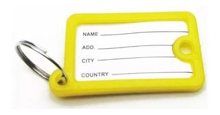 Kit Com 100 Chaveiro Identificador Chaves Organizador