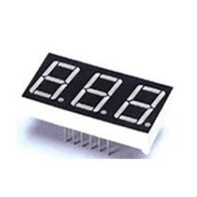 Display Verm Super Brilho 3 Digitos Anodo Comum Kit 10 Pç