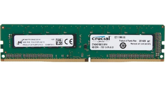 Memoria Ram Crucial Udimm Ddr4 4gb 2400mhz 1.2v Pc Blister