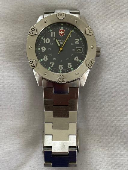 Relógio Antigo Coleção Swiss Army Inox