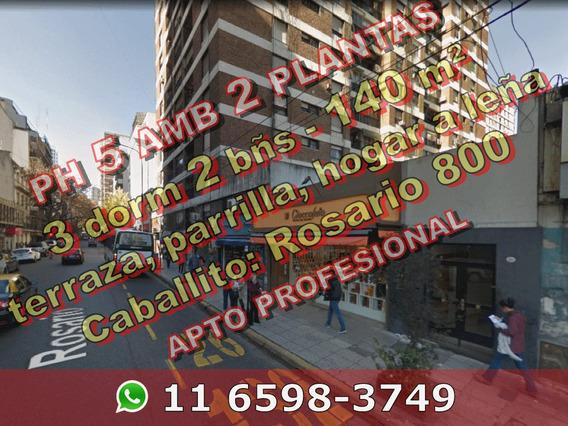 Venta Ph Caballito 5 Ambientes 3 Dormitorios Parrilla 598