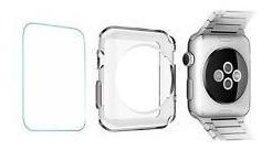 Case Bumper + Película Vidro Relógio Apple Watch 38mm Iwatch