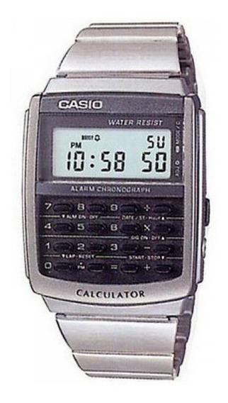 Casio Ca506-1 Relógio Calculadora 8 Dígitos Aço Crono Alarme Retro Ca-506 Original Pronta E