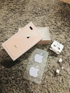 Caixa Vazia iPhone 8 Plus + 2 Adesivos + Chave + Porta Fone