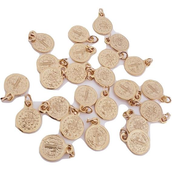 Mini Medalla San Benito Chapa De Oro