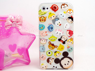 Case Protector Transparente Personajes Disney Para iPhone 5c