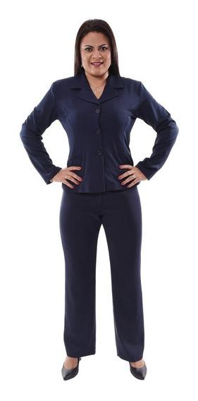 Conjunto Feminino Blazer 3 Botões Com Calça, Cores Variadas